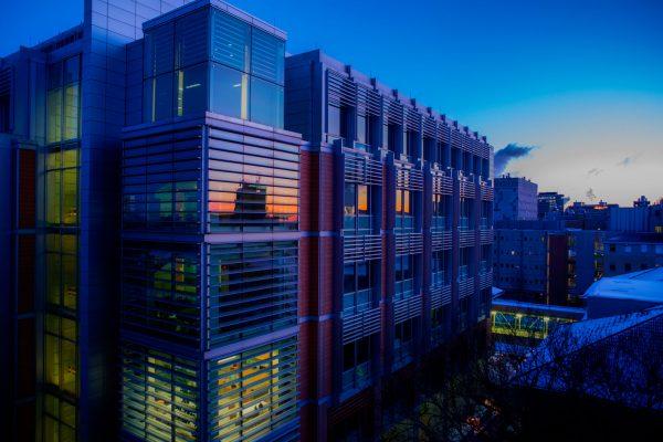 Biochemistry building at dawn