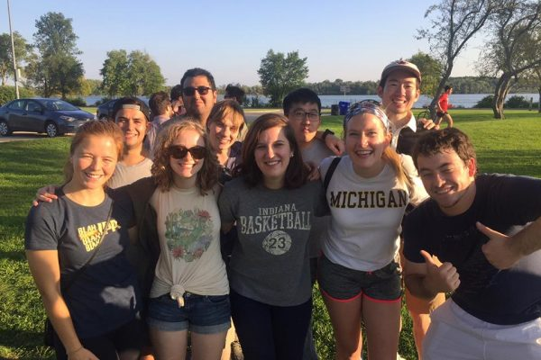 Graduate students at welcome picnic