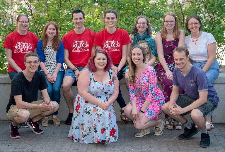 Student Faculty Liaison Committee group shot of 11 students.