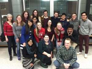 Graduate student group photo of winter reception