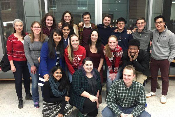 Graduate student group photo of winter reception