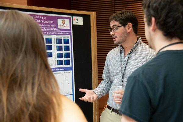 Photo of student at the graduate program retreat
