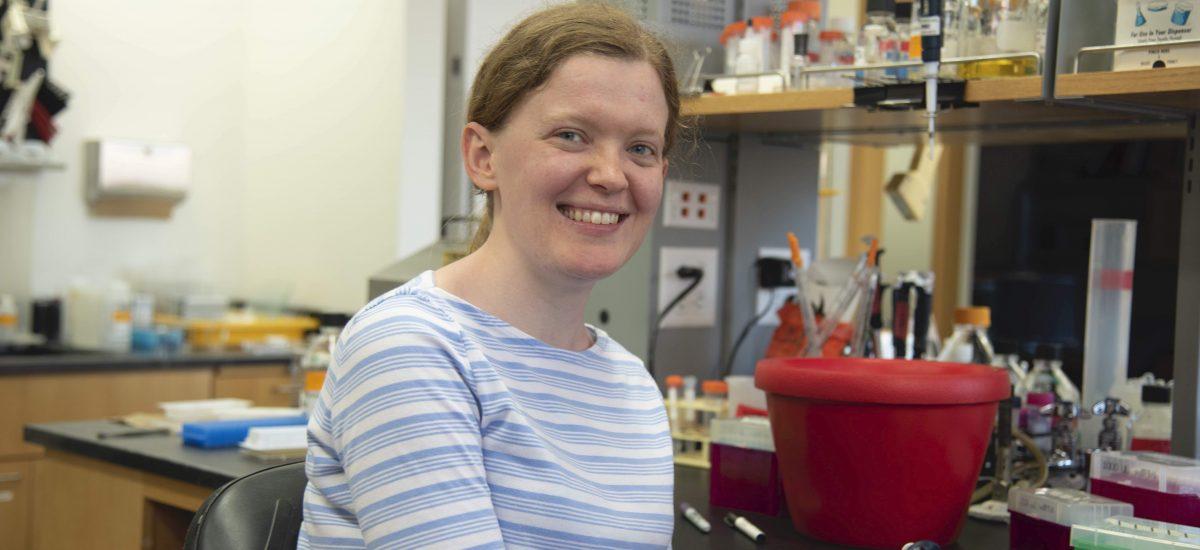 Photo of Keren Turton in the lab