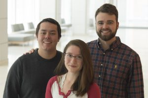 Three graduate students who won National Science Foundation fellowships
