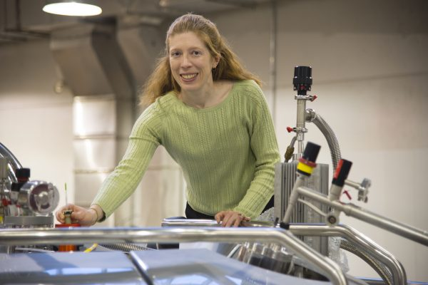 Professor using NMR facility