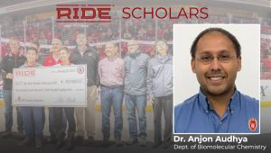 A flyer announcing Prof. Audhya's Ride Scholarship
