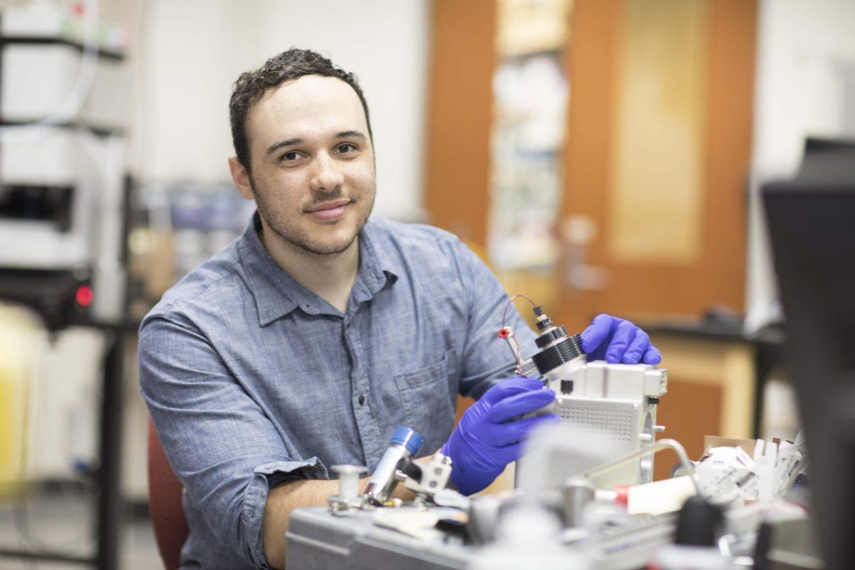 Justin McKetney in the lab
